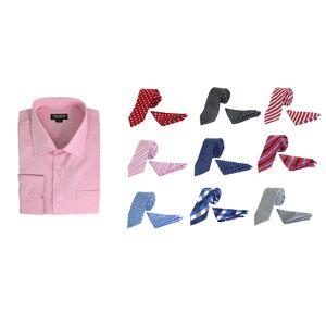 Galaxy By Harvic Men's Fancy Dress Shirt, 3 Ties, 3 Hanker-chiefs  size: