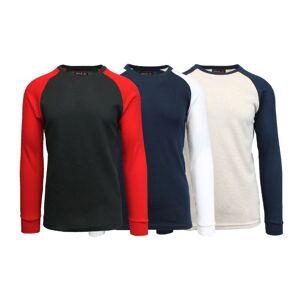 Galaxy By Harvic Men's Raglan Thermal Shirt - 3 Pack