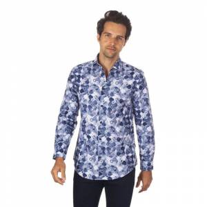 Suslo Couture Men's Winter Designable Printed Long Sleeve Button Down Shirt