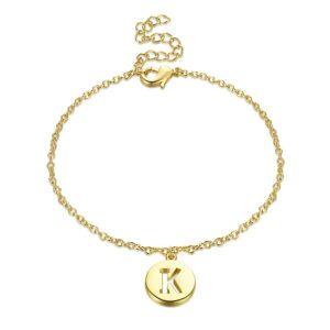 Generic Letter K Bracelet Plated in 18k Yellow Gold