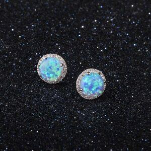 Generic Genuine Gemstone Round Stud Earrings