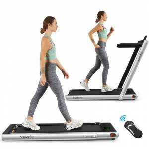 Generic 2 in 1 Folding Treadmill with Bluetooth Speaker Remote - 2.25 HP