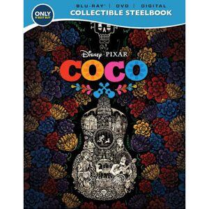 Disney Pixar Coco Movie -Steelbook Case Blu-Ray + DVD + Digital