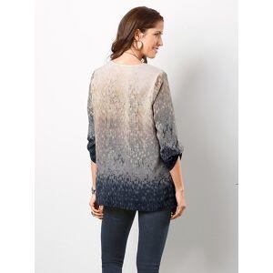 creation L Ombre Effect Patterned Blouse  - Blue/Multi - Size: 10