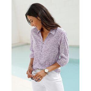 creation L Minimalist Print Shirt Collar Blous  - Blue/Green/Multi - Size: 10