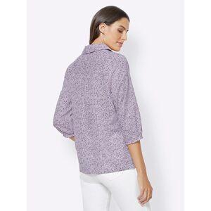 creation L Minimalist Print Shirt Collar Blous  - Purple - Size: 10