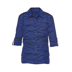 creation L Zebra Print Blouse  - Blue - Size: 10