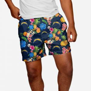 "FOCO Los Angeles Chargers Fruit Life 5.5"" Swimming Trunks - S"