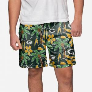 FOCO Green Bay Packers Tropical Swimming Trunks - 2XL