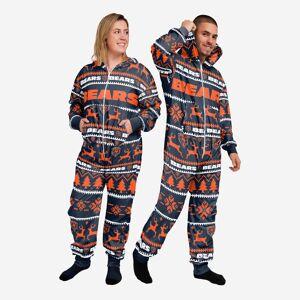 FOCO Chicago Bears Holiday One Piece Pajamas - XS