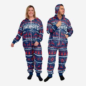 FOCO New England Patriots Holiday One Piece Pajamas - S