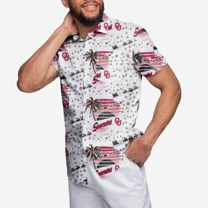 FOCO Oklahoma Sooners Winter Tropical Button Up Shirt - 3XL