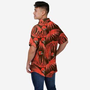 FOCO Cleveland Browns Hawaiian Button Up Shirt - M