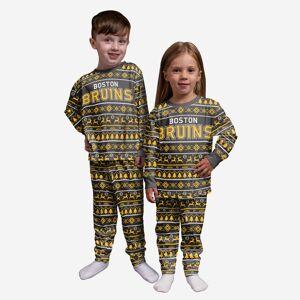 FOCO Boston Bruins Toddler Family Holiday Pajamas - 4T