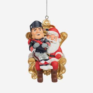 FOCO Pat the Patriot New England Patriots Mascot On Santa's Lap Ornament
