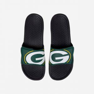 FOCO Green Bay Packers Cropped Big Logo Slide - S