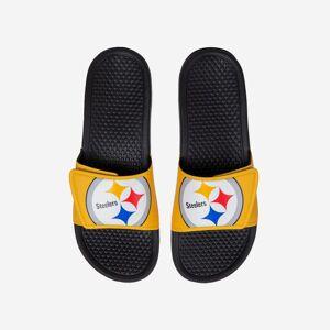 FOCO Pittsburgh Steelers Cropped Big Logo Slide - M