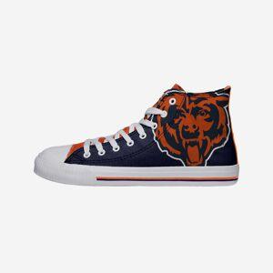 FOCO Chicago Bears Mens High Top Big Logo Canvas Shoe - 10