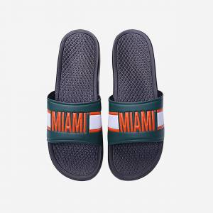 FOCO Miami Hurricanes Raised Wordmark Slide - M