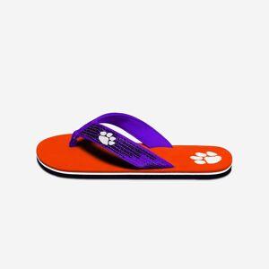 FOCO Clemson Tigers Womens Sequin Flip Flop - M