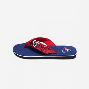 FOCO Houston Texans Womens Sequin Flip Flop - M