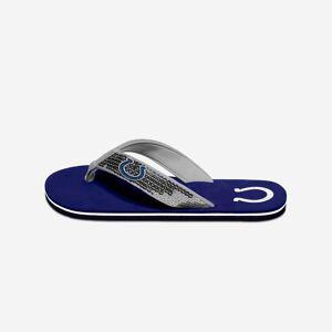 FOCO Indianapolis Colts Womens Sequin Flip Flop - L