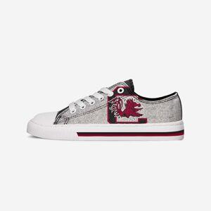 FOCO South Carolina Gamecocks Womens Glitter Low Top Canvas Shoe - 7