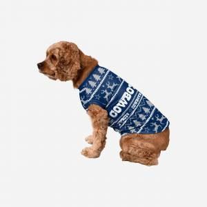 FOCO Dallas Cowboys Dog Family Holiday Sweater - L