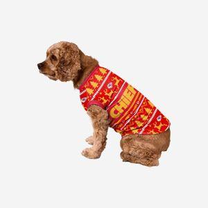 FOCO Kansas City Chiefs Dog Family Holiday Sweater - L