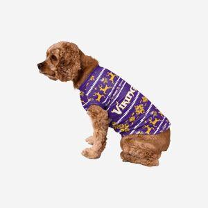 FOCO Minnesota Vikings Dog Family Holiday Sweater - S