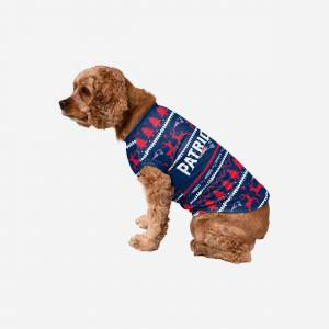 FOCO New England Patriots Dog Family Holiday Sweater - M