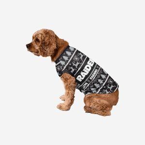 FOCO Las Vegas Raiders Dog Family Holiday Sweater - M
