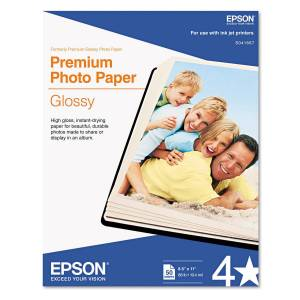 Epson Ultra Premium Glossy 8.5x11 Photo Paper - 50 Sheets