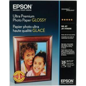 Epson Ultra Premium 8.5x11 Glossy Photo Paper - 25 Sheets