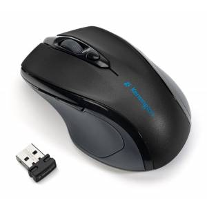 Kensington Pro Fit Mid-Sized Right Handed Optical Wireless USB Mouse - Black