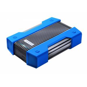 Adata 4TB AData HD830 Extreme Durable USB3.1 Portable Hard Drive - Aluminum/Silicone - Black/Blue