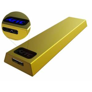 ZTC Thunder Enclosure NGFF M.2 SSD to USB 3.0 - Gold Aluminum Shell, 5 Size Board - 6GB/s