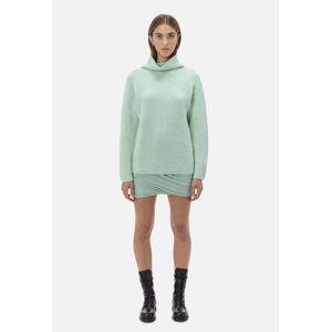 John Elliott - Women's Foggy Wool Cashmere Boyfriend Sweater / Celadon (Foggy Wool Cashmere Boyfriend Sweater / Celadon / 3 / Large)
