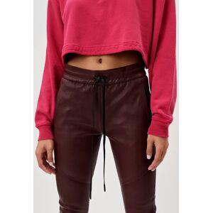 John Elliott - Women's Women's Leather Escobar Pants / Bordeaux (Women's Leather Escobar Pants / Bordeaux / 3 / Large)