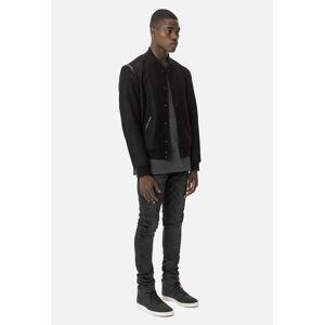 John Elliott Melton Wool Stadium Jacket / Black (Melton Wool Stadium Jacket / Black / 5 / XX-Large)