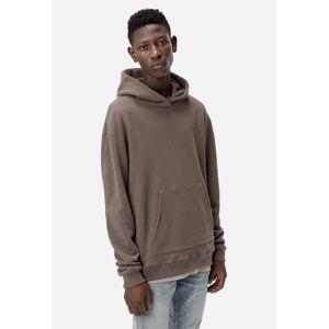 John Elliott Oversized Cropped Hoodie / Brown (Oversized Cropped Hoodie / Brown / 5 / XX-Large)