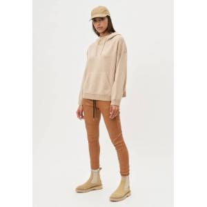 John Elliott - Women's Two Tone Cashmere Hoodie / Camel X Almond (Two Tone Cashmere Hoodie / Camel X Almond / 1 / Small)