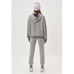 John Elliott - Women's Two Tone Cashmere Hoodie / Grey X Black (Two Tone Cashmere Hoodie / Grey X Black / 3 / Large)
