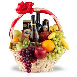1StopFlorists Uplifting Fruit & Wine Collection