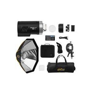 "Flashpoint XPLOR 300 Pro TTL R2 Battery-Powered Monolight With Glow 24"" HexaPop"