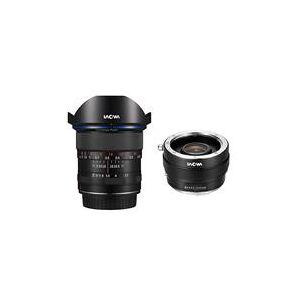 Venus Laowa 12mm f/2.8 Zero-D Ultra-WideAngle Lens for Canon EF Cameras Black - With Venus Laowa Magic Shift Converter for Canon Mount Lens on Sony E Mount Camera