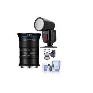 Venus Laowa 17mm f/4 Zero-D Lens for GFX Medium Format System - Bundle with Zoom Li-on X R2 TTL On-Camera Round Flash Speedlight 6