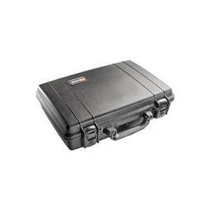 Pelican 1470 Attache Style Small Computer Watertight Hard Case without Foam Insert - Black