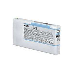 "Epson Ultrachrome HD 200ml Light Cyan Pigment Ink Cartridge for SureColor SC-P5000 17"" Large Format Printer"