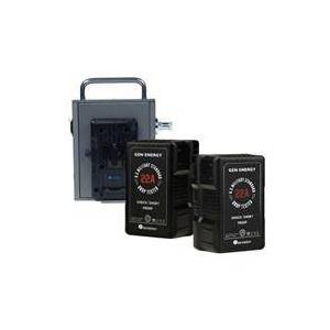GEN Energy G-PB48 Mobile Power Distributor with 2x G-B100 14.4V 290W V-Mount Li-Ion Battery for Arri S30/60/120 Skypanel Series